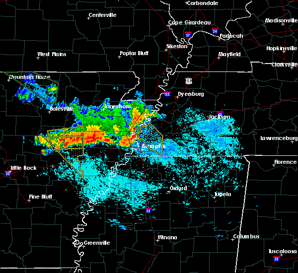 Radar Image for Severe Thunderstorms near Memphis, TN at 8/7/2015 8:02 AM CDT