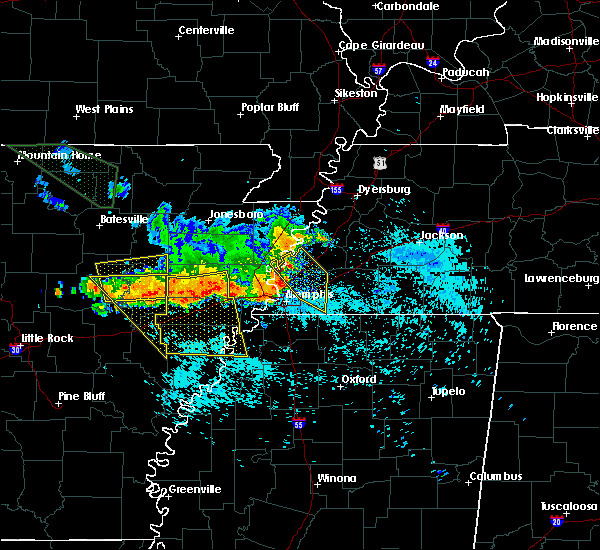 Radar Image for Severe Thunderstorms near Rondo, AR at 8/7/2015 8:13 AM CDT