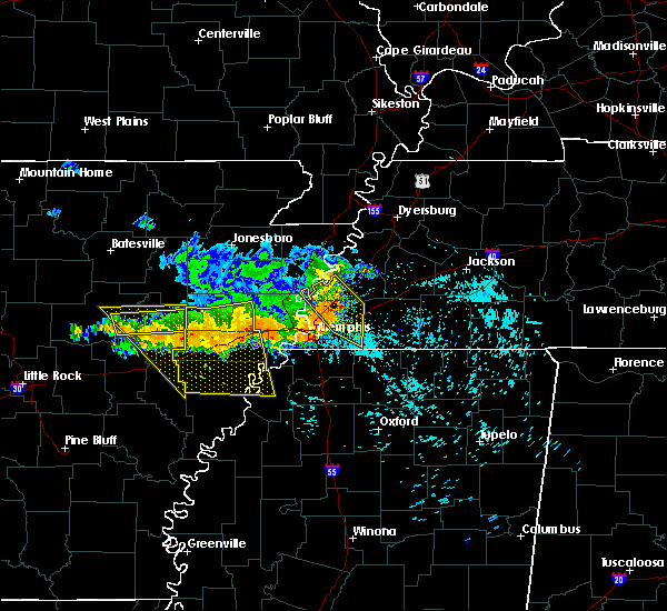 Radar Image for Severe Thunderstorms near Memphis, TN at 8/7/2015 8:25 AM CDT