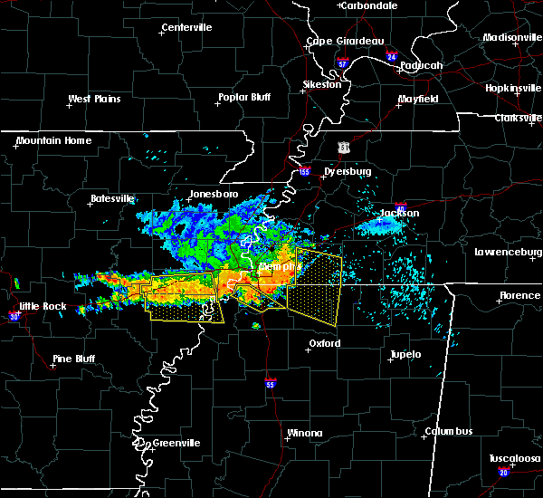Radar Image for Severe Thunderstorms near Memphis, TN at 8/7/2015 8:46 AM CDT