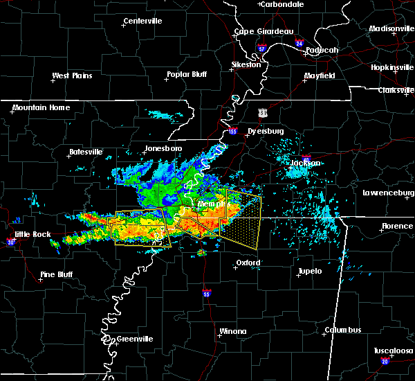Radar Image for Severe Thunderstorms near Moscow, TN at 8/7/2015 8:54 AM CDT