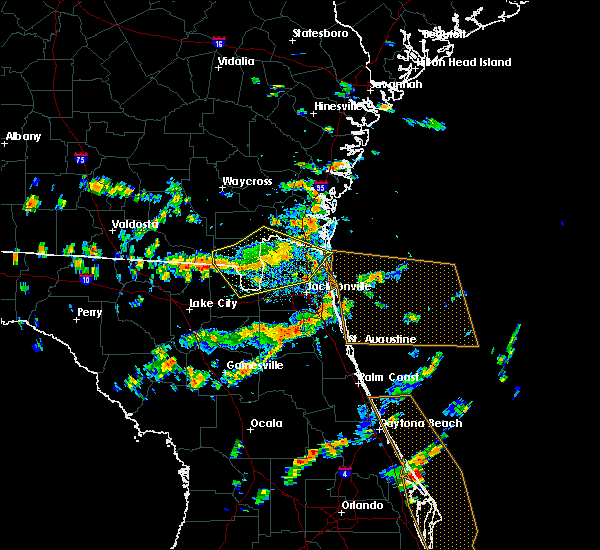 Radar Image for Severe Thunderstorms near Callahan, FL at 8/7/2015 2:37 PM EDT