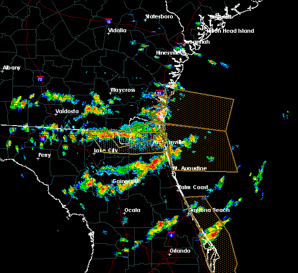 Radar Image for Severe Thunderstorms near Callahan, FL at 8/7/2015 2:49 PM EDT