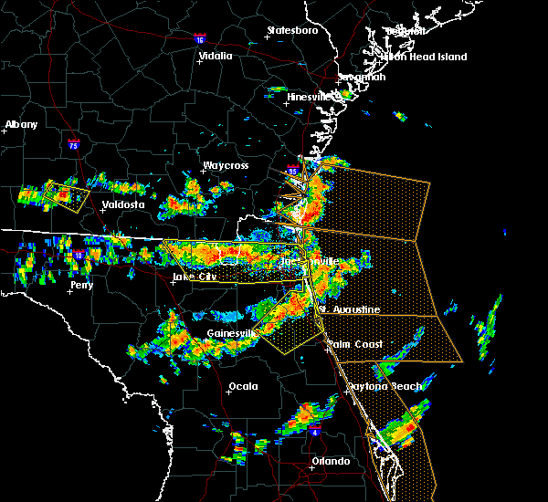 Radar Image for Severe Thunderstorms near Palm Valley, FL at 8/7/2015 3:05 PM EDT