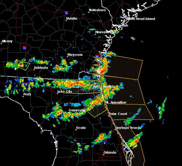 Radar Image for Severe Thunderstorms near Jacksonville, FL at 8/7/2015 3:05 PM EDT