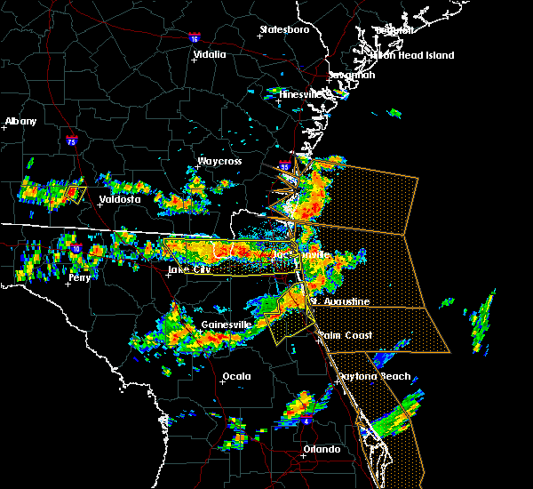 Radar Image for Severe Thunderstorms near Flagler Estates, FL at 8/7/2015 3:13 PM EDT