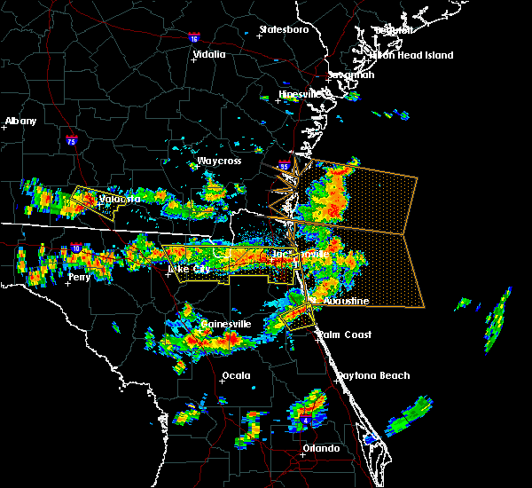 Radar Image for Severe Thunderstorms near Macclenny, FL at 8/7/2015 3:32 PM EDT