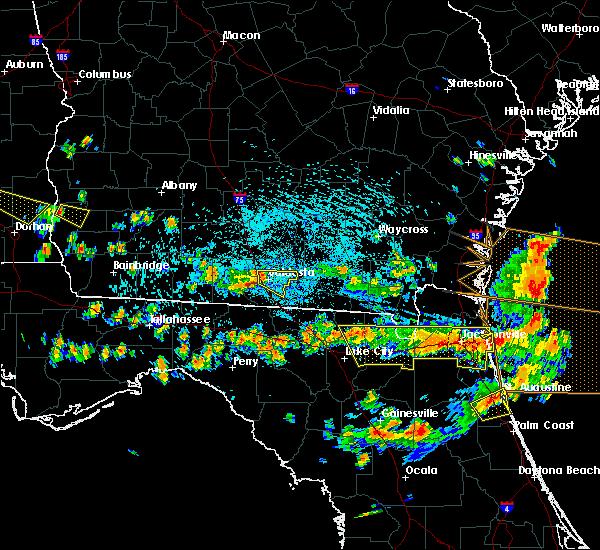 Radar Image for Severe Thunderstorms near Valdosta, GA at 8/7/2015 3:35 PM EDT