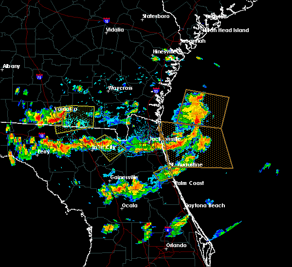 Radar Image for Severe Thunderstorms near St. Augustine South, FL at 8/7/2015 3:54 PM EDT