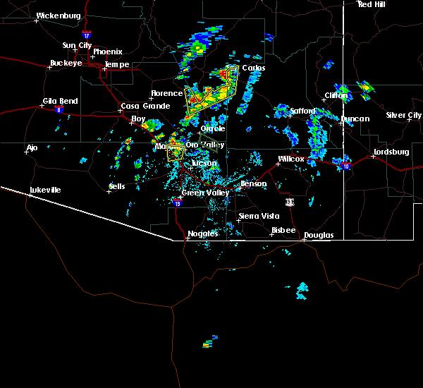 Radar Image for Severe Thunderstorms near Marana, AZ at 8/7/2015 1:03 PM MST