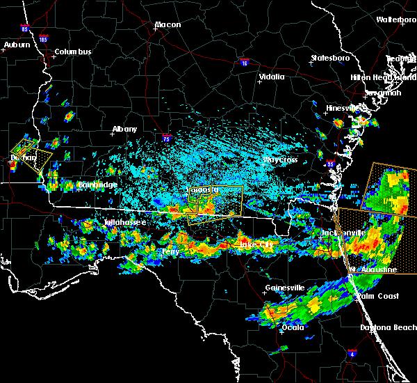Radar Image for Severe Thunderstorms near Valdosta, GA at 8/7/2015 4:10 PM EDT
