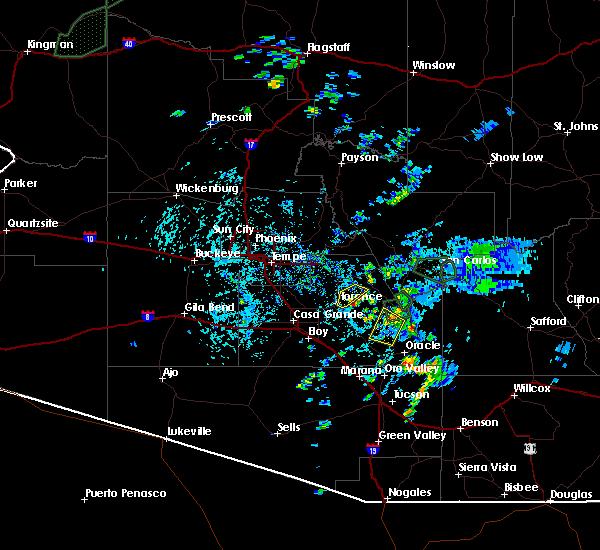 Radar Image for Severe Thunderstorms near Florence, AZ at 8/7/2015 2:31 PM MST
