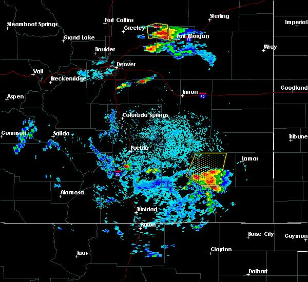 Radar Image for Severe Thunderstorms near La Junta, CO at 8/7/2015 3:32 PM MDT