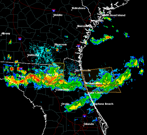 Radar Image for Severe Thunderstorms near Macclenny, FL at 8/7/2015 5:37 PM EDT