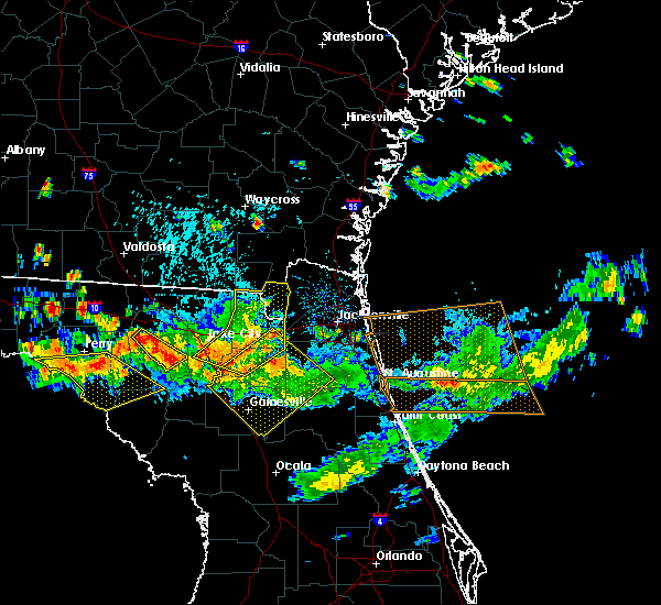 Radar Image for Severe Thunderstorms near Gainesville, FL at 8/7/2015 5:42 PM EDT