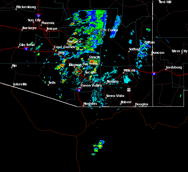 Radar Image for Severe Thunderstorms near Catalina Foothills, AZ at 8/7/2015 2:46 PM MST