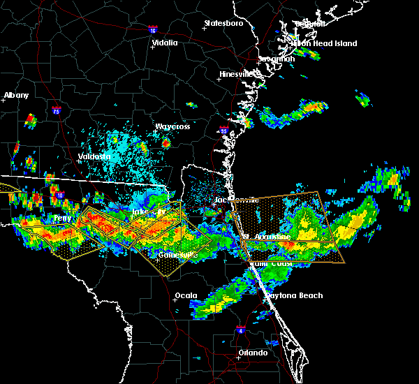 Radar Image for Severe Thunderstorms near Macclenny, FL at 8/7/2015 5:46 PM EDT