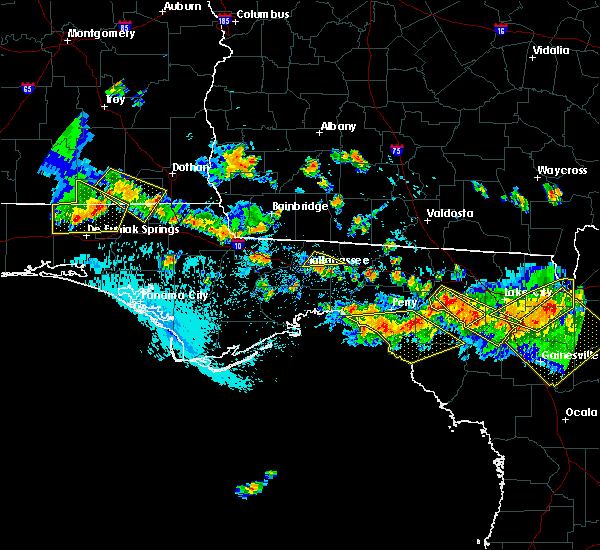 Radar Image for Severe Thunderstorms near Tallahassee, FL at 8/7/2015 5:46 PM EDT