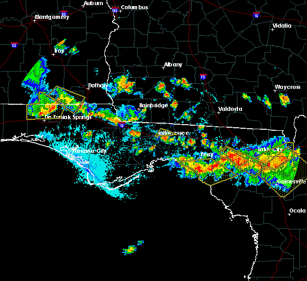 Radar Image for Severe Thunderstorms near Tallahassee, FL at 8/7/2015 5:49 PM EDT