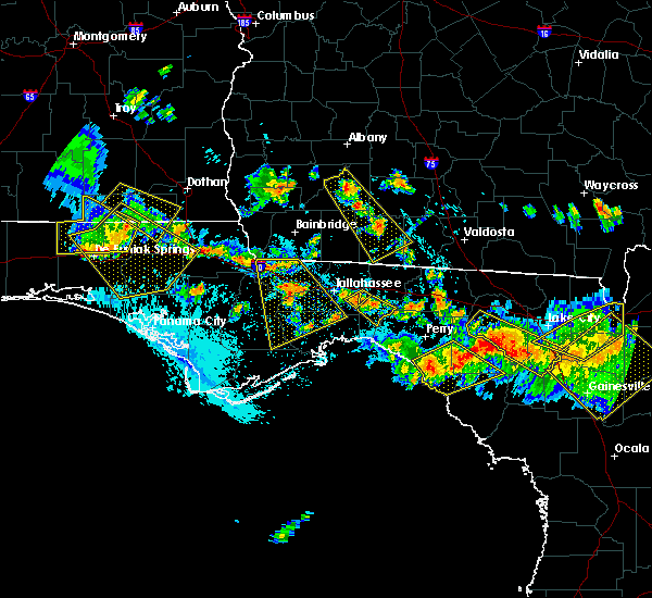 Radar Image for Severe Thunderstorms near Tallahassee, FL at 8/7/2015 6:01 PM EDT
