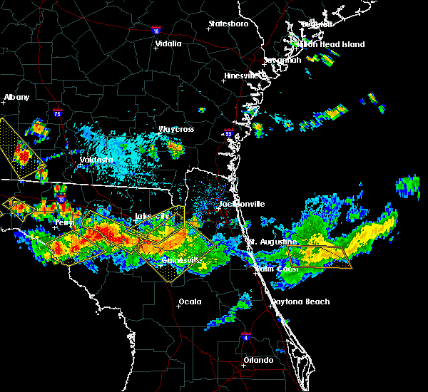 Radar Image for Severe Thunderstorms near Gainesville, FL at 8/7/2015 6:04 PM EDT