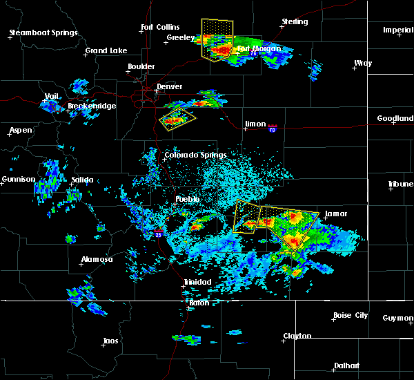 Radar Image for Severe Thunderstorms near Wiley, CO at 8/7/2015 4:10 PM MDT