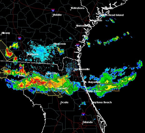 Radar Image for Severe Thunderstorms near Newberry, FL at 8/7/2015 6:11 PM EDT