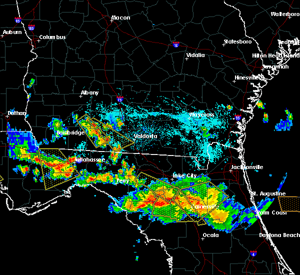 Radar Image for Severe Thunderstorms near Moultrie, GA at 8/7/2015 6:29 PM EDT