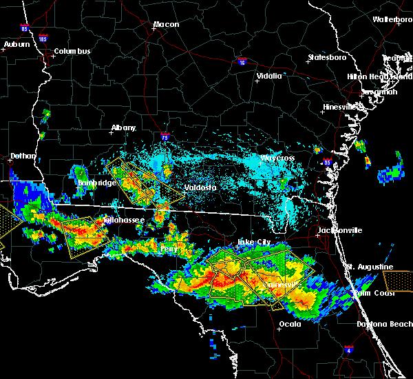 Radar Image for Severe Thunderstorms near Branford, FL at 8/7/2015 6:34 PM EDT