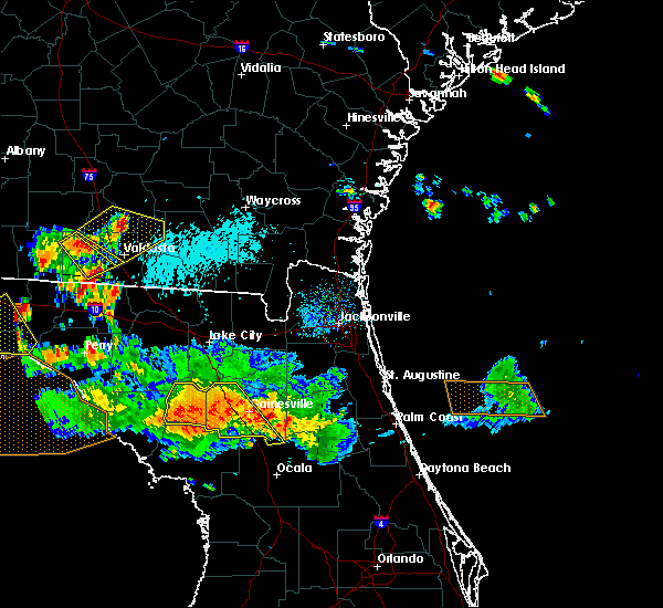 Radar Image for Severe Thunderstorms near High Springs, FL at 8/7/2015 6:57 PM EDT