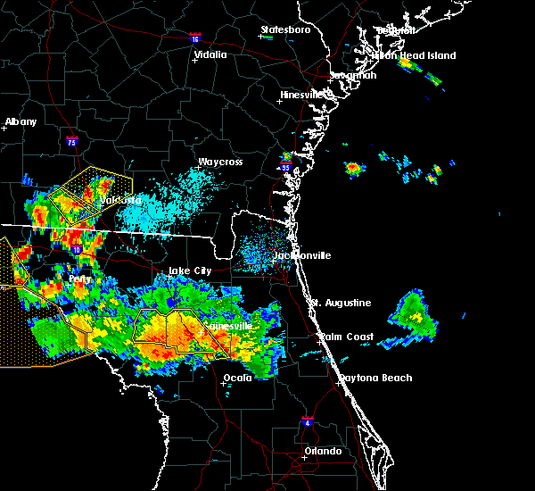 Radar Image for Severe Thunderstorms near Gainesville, FL at 8/7/2015 7:10 PM EDT