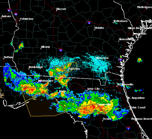 Radar Image for Severe Thunderstorms near Lakeland, GA at 8/7/2015 7:10 PM EDT