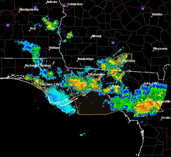 Radar Image for Severe Thunderstorms near Carrabelle, FL at 8/7/2015 7:11 PM EDT