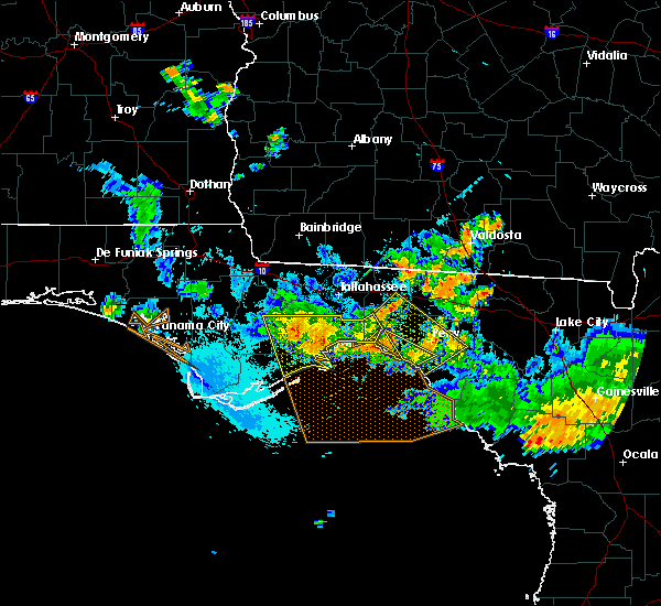 Radar Image for Severe Thunderstorms near Perry, FL at 8/7/2015 7:22 PM EDT