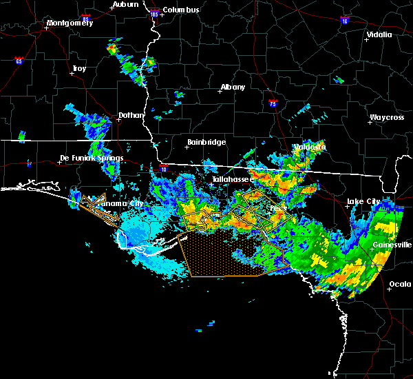 Radar Image for Severe Thunderstorms near Perry, FL at 8/7/2015 7:40 PM EDT