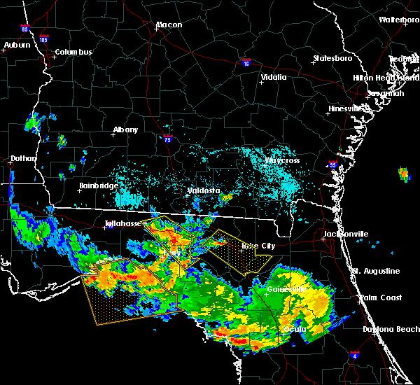 Radar Image for Severe Thunderstorms near Madison, FL at 8/7/2015 7:59 PM EDT