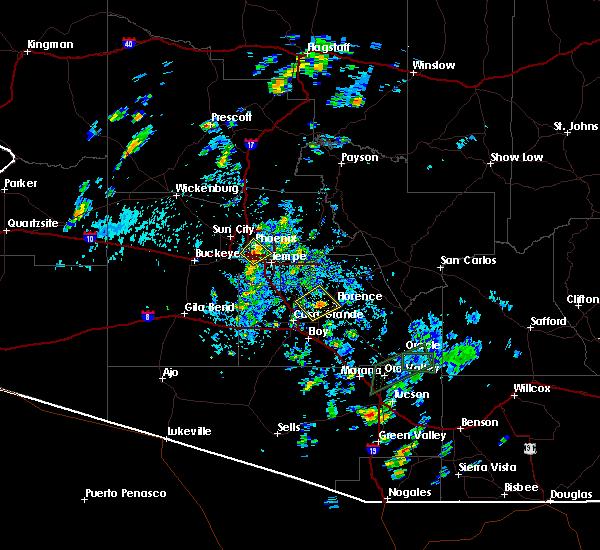 Radar Image for Severe Thunderstorms near Florence, AZ at 8/7/2015 5:12 PM MST