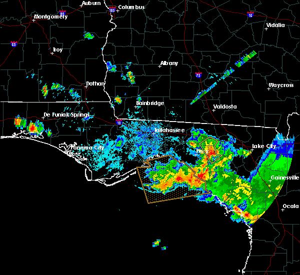 Radar Image for Severe Thunderstorms near Cross City, FL at 8/7/2015 8:20 PM EDT