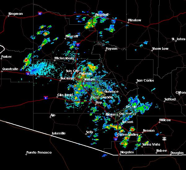 Radar Image for Severe Thunderstorms near Florence, AZ at 8/7/2015 5:28 PM MST