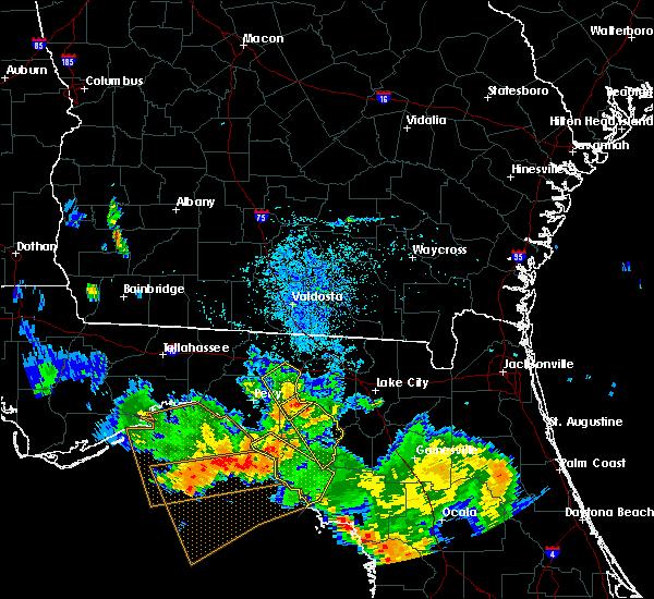 Radar Image for Severe Thunderstorms near Branford, FL at 8/7/2015 8:29 PM EDT