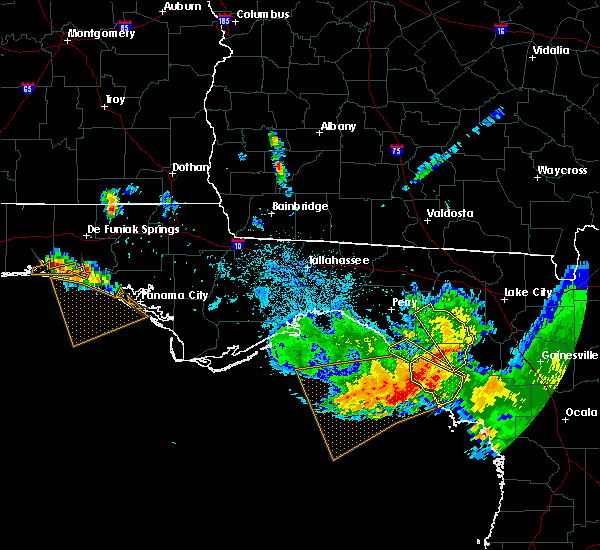 Radar Image for Severe Thunderstorms near Cross City, FL at 8/7/2015 8:56 PM EDT