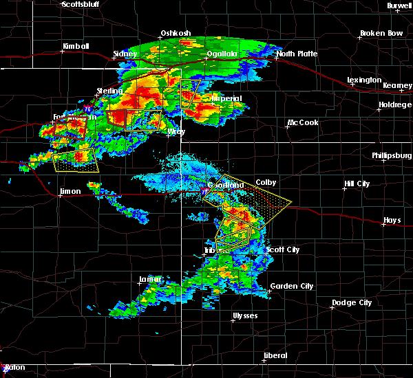 Radar Image for Severe Thunderstorms near Lamar, NE at 8/7/2015 7:03 PM MDT