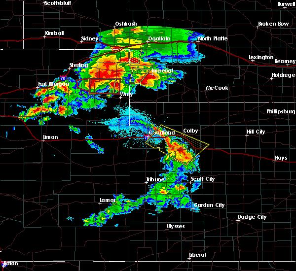 Radar Image for Severe Thunderstorms near Lamar, NE at 8/7/2015 7:17 PM MDT