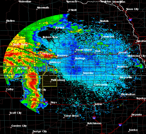 Radar Image for Severe Thunderstorms near Speed, KS at 8/7/2015 10:20 PM CDT