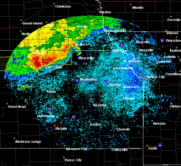 Radar Image for Severe Thunderstorms near Agenda, KS at 8/8/2015 1:41 AM CDT