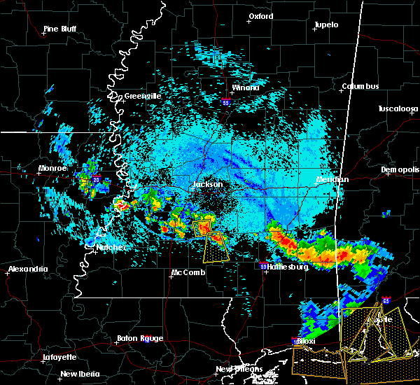 Radar Image for Severe Thunderstorms near Georgetown, MS at 8/8/2015 6:29 PM CDT