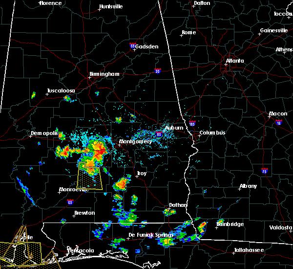 Radar Image for Severe Thunderstorms near Georgiana, AL at 8/8/2015 6:50 PM CDT
