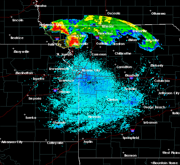 Radar Image for Severe Thunderstorms near Conception Junction, MO at 8/9/2015 12:28 AM CDT