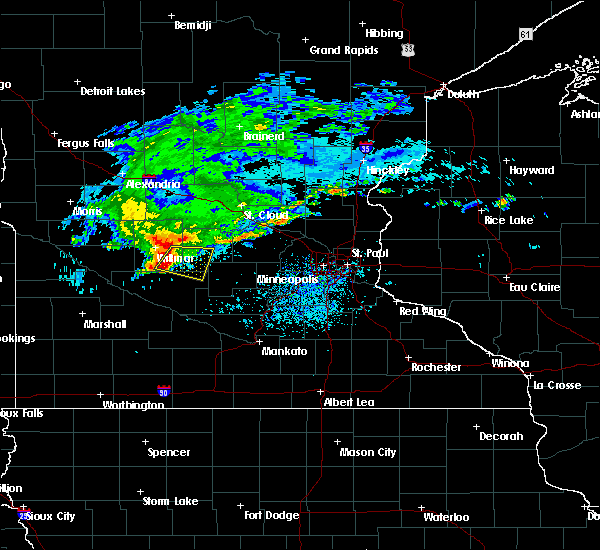 Radar Image for Severe Thunderstorms near Lake Lillian, MN at 8/9/2015 11:35 AM CDT