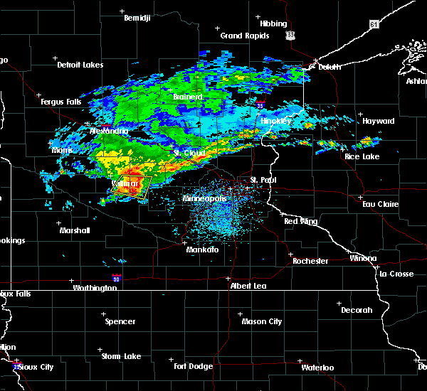 Radar Image for Severe Thunderstorms near Litchfield, MN at 8/9/2015 11:59 AM CDT